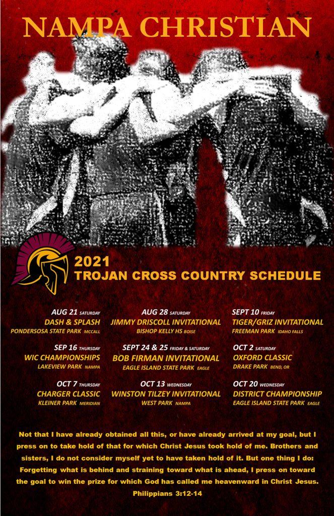 Nampa Christian Trojans Cross Country Schedule 2021